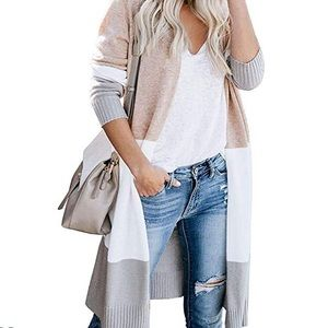 Sweaters - Long duster color black cardigan